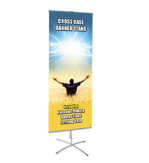 Cross Base Banner Stand