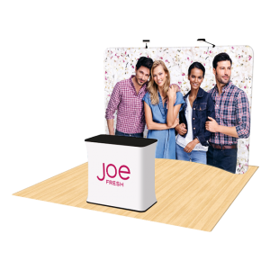 10ft Curved Tension Fabric Display