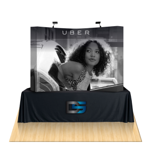 Curved Fabric Tabletop Displays