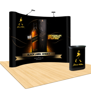 portable curved pop up display