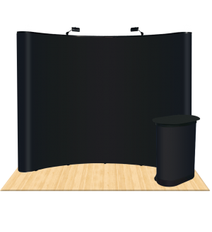 10ft Curved Fabric Pop Up Display (Blank Booth)