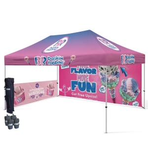 EZ Up Tents with back wall and 1 Side Wall