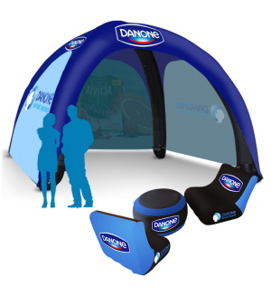 17x17 Inflatable Tent Package #17