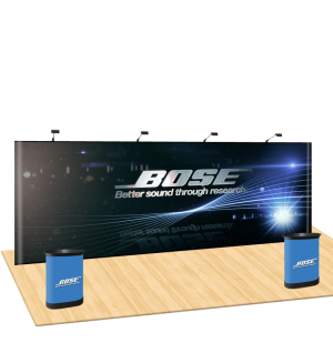 Straight Magnetic Display Booths