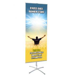 Cross Base Banner Stand Display