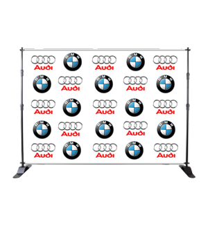 X 12ft Fabric Step & Repeat Banner Stand