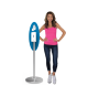 Oval Trappa Post Sanitizer Stand