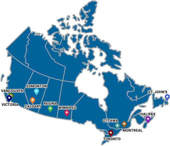 Distribution Centers Across The Canada