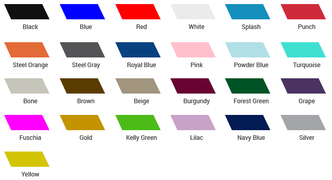 Tent Fabric Color Options